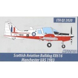 AV7225010 - 1/72 SCOTTISH AVIATION BULLDOG XX616 MANCHESTER UAS 1983